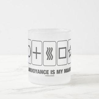 La voyance est mon incantation (l'humour de mug en verre givré