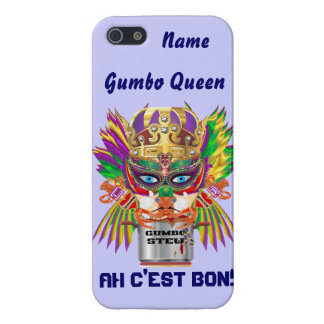 La vue de la Reine de gombo de mardi gras veuillez Coques iPhone 5