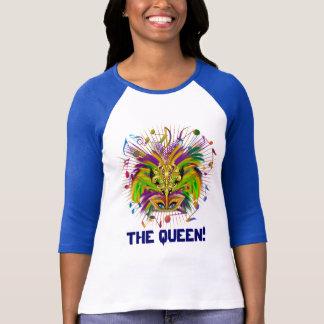 La vue de lumière de la Reine de mardi gras note T-shirt