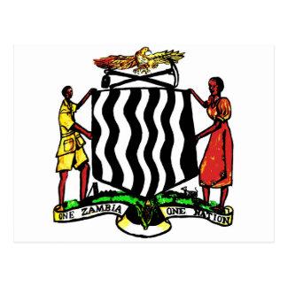 La Zambie, Afrique, manteau des bras Cartes Postales