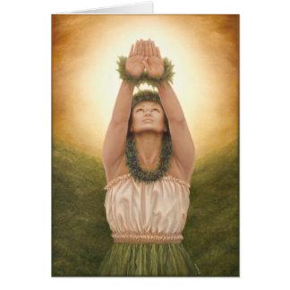 """La'a Kea"" par l'artiste Lori Higgins de Maui. Carte De Vœux"