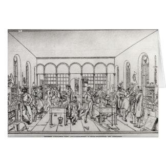 Laboratoire de chimie de baron Justus von Liebig Carte De Vœux