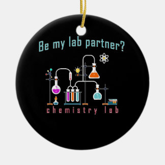 Laboratoire de chimie ornement rond en céramique