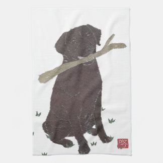 Laboratoire de chocolat, labrador retriever, Brown Serviettes Éponge