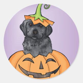Laboratoire noir de Halloween Sticker Rond