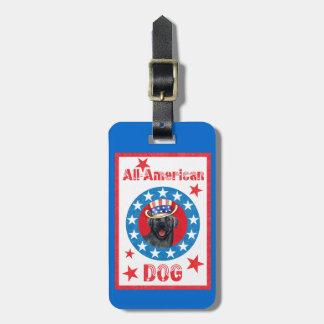 Laboratoire noir patriotique étiquette à bagage