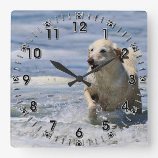 Labradoodle - Izzy Horloge Carrée
