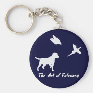 Labrador et fauconnerie porte-clés