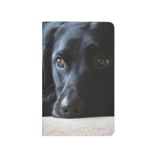 Labrador noir carnet de poche