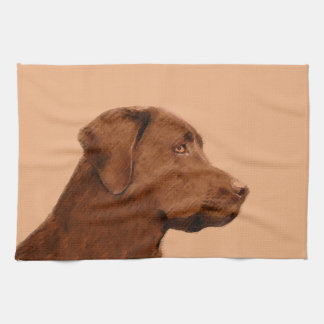 Labrador retriever (chocolat) serviettes pour les mains