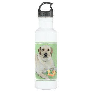 Labrador retriever (jaune) bouteille d'eau en acier inoxydable