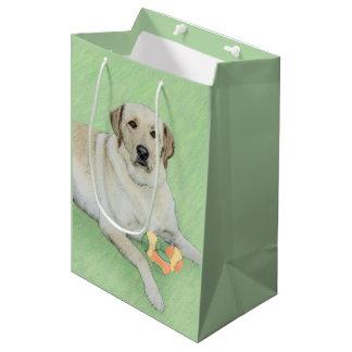 Labrador retriever (jaune) sac cadeau moyen