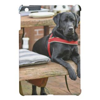 Labrador retriever noir personnalisable coques iPad mini
