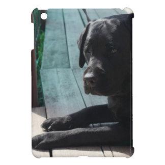 Labrador retriever noir personnalisable étui iPad mini