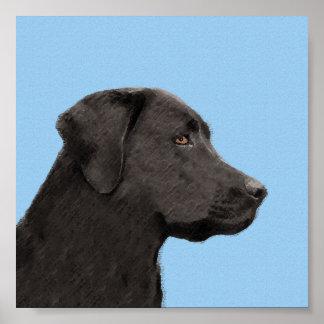 Labrador retriever (noir) poster