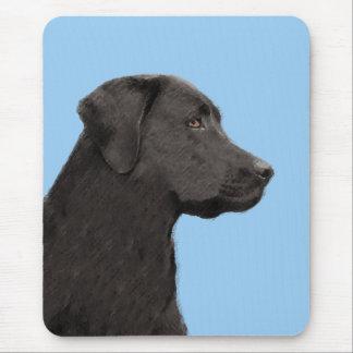 Labrador retriever (noir) tapis de souris