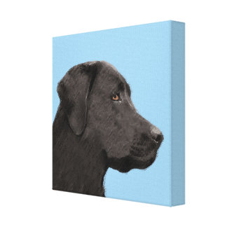 Labrador retriever (noir) toile