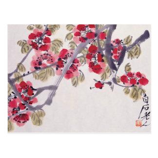 L'abricot fleurit carte postale