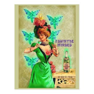 L'absinthe s'est occupée de la carte postale