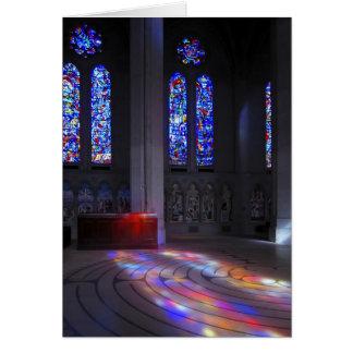 Labyrinthe de marche de cathédrale de grâce carte de vœux