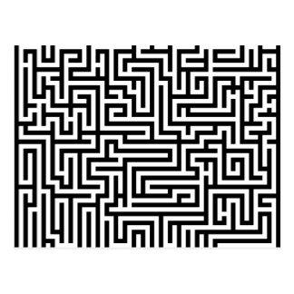 Labyrinthe noir et blanc de labyrinthe carte postale