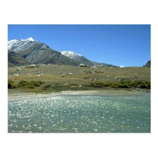 Lac alimenté par glacier, Ladakh, Inde Carte Postale
