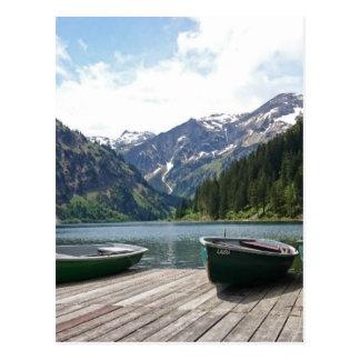 Lac alpin carte postale
