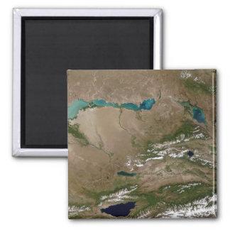 Lac Balkhash dans Kazakhstan oriental Magnet Carré