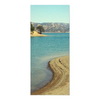 Lac Berryessa Carton D'invitation 10,16 Cm X 23,49 Cm