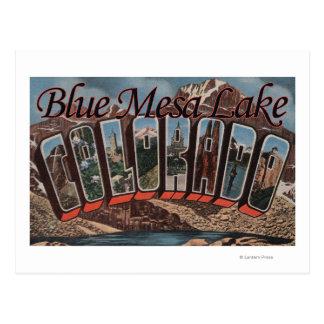 Lac bleu mesa, le Colorado - grandes scènes de Carte Postale