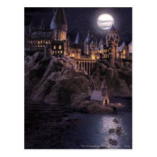 Lac castle | de Harry Potter grand à Hogwarts Cartes Postales