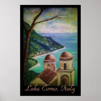 Lac Como affiche de l Italie
