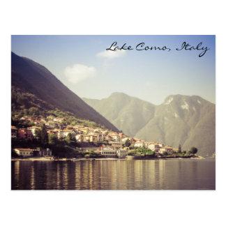 Lac Como, Italie, carte postale