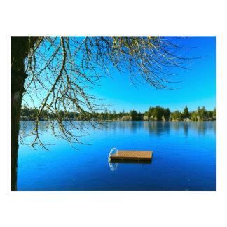 Lac congelé à midi impression photo