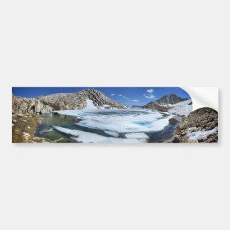 Lac congelé bear blanc - sierra autocollant de voiture