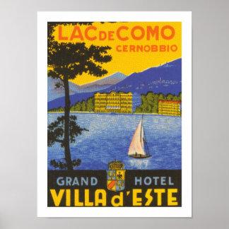 Lac de Como (blanc) Poster