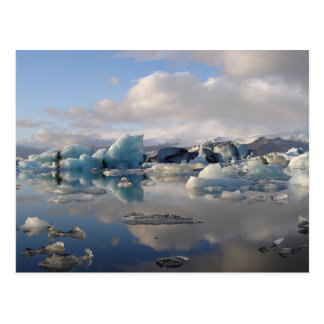 Lac de glacier de Jokulsarlon en carte postale de