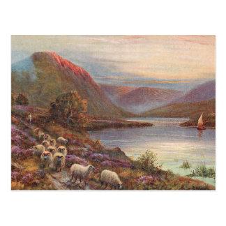 Lac écossais highlands carte postale