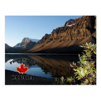 Lac et glacier bow carte postale