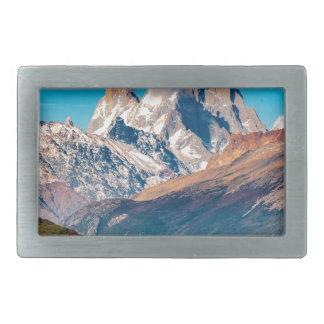 Lac et montagnes des Andes, Patagonia - Argentine Boucles De Ceinture Rectangulaires