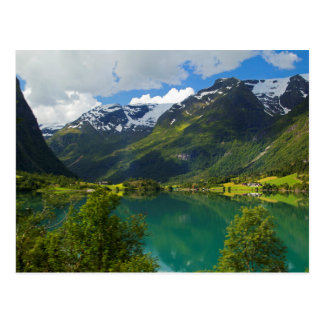 Lac Floen pittoresque, Norvège Carte Postale