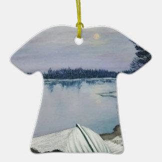 Lac forest ornement t-shirt en céramique