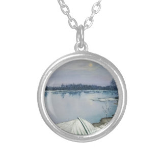 Lac forest pendentif rond