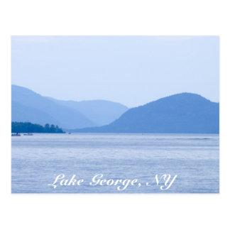 Lac George, carte postale de la N.Y. - customisée