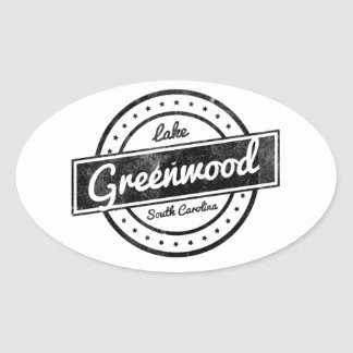 Lac Greenwood Sticker Ovale