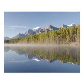 Lac herbert à la route express Alberta Canada de Prospectus 11,4 Cm X 14,2 Cm