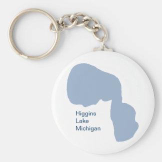 Lac Higgins, Michigan Porte-clé Rond
