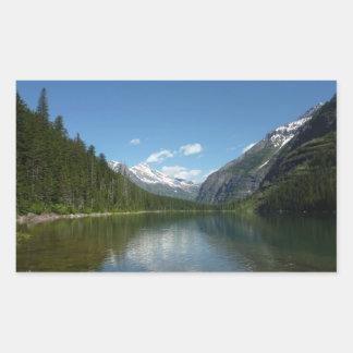 Lac I avalanche en parc national de glacier Sticker Rectangulaire