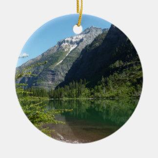 Lac II avalanche en parc national de glacier Ornement Rond En Céramique