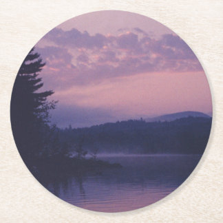 Lac indien, parc d'Adirondack, NY Dessous-de-verre Rond En Papier